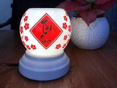Đèn Xông Tinh Dầu Mini Miệng Tròn Thư Pháp Tài Lộc