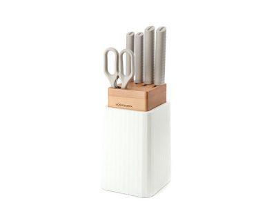 Bộ Dao 6 Món Thương Hiệu Lock&Lock - màu trắng