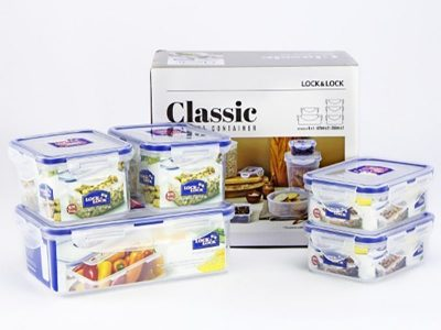 Bộ 5 hộp nhựa bảo quản Lock&Lock Classic