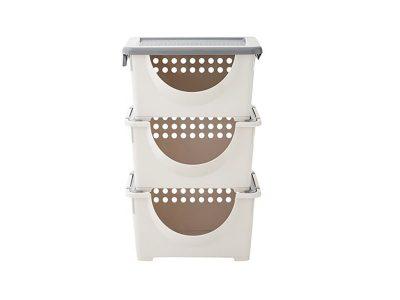 Bộ Sản Phẩm Rổ Nhựa Có Tay Cầm Wing Basket Lock&Lock