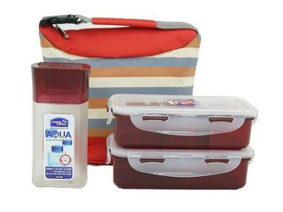 Bộ túi hộp cơm Lock&Lock W/Stripe pattern Bag