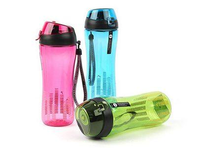 Bình nước thể thao nhựa tritan có ống hút 650 ml - Blue / Green / Pink - ABF629B