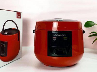 Nồi cơm điện mini Lock & Lock 1L - Màu đỏ EJR431