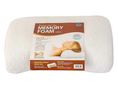 Gối mềm HR foam có lõm- trọng lượng 790g-510-320-107mm- Màu trắng - HLW115