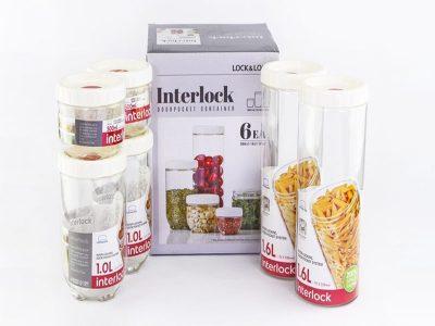 Bộ hộp bảo quản Interlock 1EA - Màu trắng/ Xanh - INL301S4