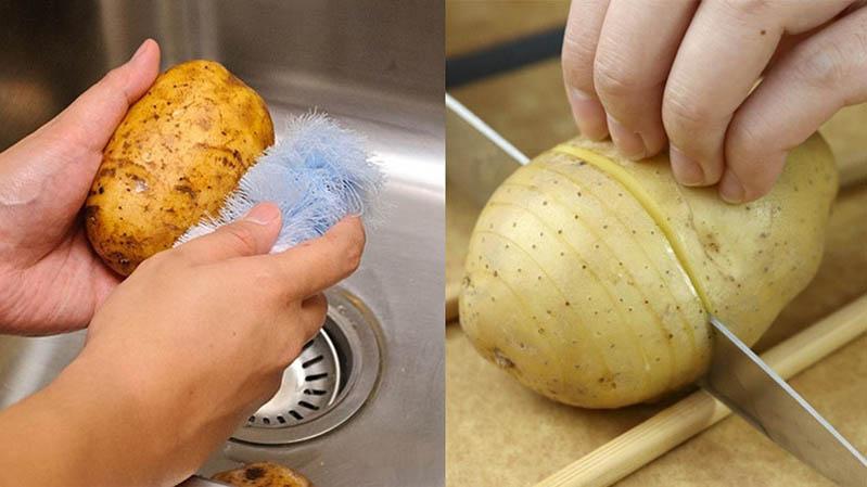 không ăn khoai tây héo
