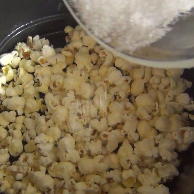 cách làm bắp rang bơ bằng nồi chiên không dầu